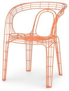 Mazatlan Outdoor Chair, Orange - eclectic - Outdoor Chairs - Masins Furniture #workspacevision #outdoorseating