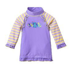 Baby Girls Ruffle Sun & Swim Shirt - Lavender Butterflies Baby Girl Swimwear, Girls Swimming, New Skin, Baby Girls, Butterflies, Lavender, Dressing, Swimsuits, Drop