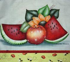 pintura em tecido pano de prato passo a passo - Pesquisa Google