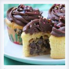 Chocolate chip cookie dough cupcake! Yummy!!!