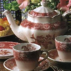 Spode Camilla Penland Pink China Set Jason's Grandma Maria gave him most of all of this set and I have it.