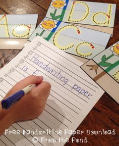 Free handwriting paper and cards