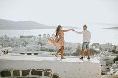 Engagement in Mykonos Greece Islands, Greece Travel, Mykonos, Wedding Engagement, Couple Photos, Couples, Travelling, Couple Shots, Greece Vacation