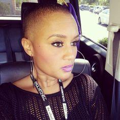 Big chop. Natural hair. Twa. Bald and beautiful