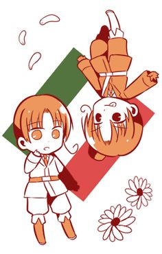 italy and 2p!Italy source: http://www.pixiv.net/member_illust.php?mode=manga&illust_id=45242066