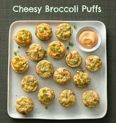 Cheesy Broccoli Puffs