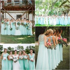 Bridesmaid Dresses, Wedding Dresses, Party Dresses, Wedding Suits, Wedding Decorations, Flower Girl Dresses, Mint, Floral, Collection