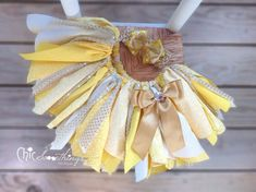 Fabric Tutu, BELLE, Beauty and the Beast, Shabby Chic Tutu, Halloween Costume, Photo Prop, Childrens Toddler Infant Tutu, Birthday tutu on Etsy, $34.00