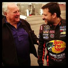 AJ Foyt and Tony Stewart. Too bad Kenny Schrader isn't in that pic with them!