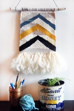 chevron woven tapestry by liz toohey-wiese