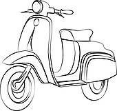 Scooter clipart outline #809 Peacock Outline, Vespa Images, Vespa Lambretta, Clip Art, Drawings, Prints, Wheels, Cars, Classic