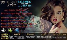 Judi Domino Online poker.99onlinepoker indonesia terpercaya adalah agen judi di yang sangat terkenal di asia dengan memiliki puluhan ribu player aktif yang real
