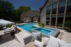 Pool and Outdoor Living area. Heath TX www.samsoutdoorliving.com