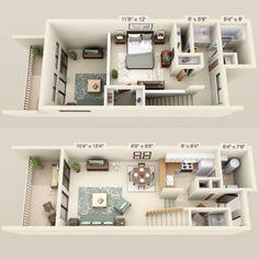 $700 - $755 Rent * $200 Dep. * 1 Bed, 1.5 Baths 704 Sq. Feet **