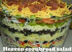 Southern cornbread salad ~ Easy Recipes