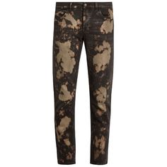 Gucci Bleached slim-fit jeans (€815) ❤ liked on Polyvore featuring men's fashion, men's clothing, men's jeans, grey multi, mens slim jeans, mens slim fit jeans, mens cropped jeans, gucci mens jeans and mens slim cut jeans