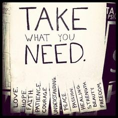I give everyone what they need but I don't think about my needs. Everyone takes and takes, but no one gives.