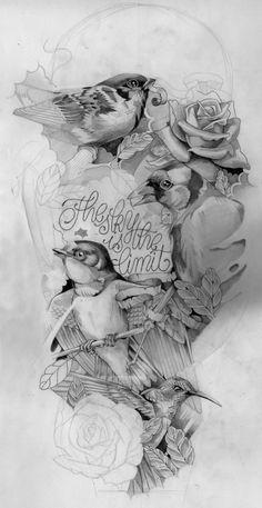Victor's tattoo. by Santa 17, via Behance