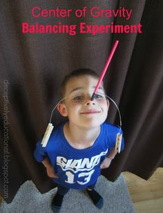 Relentlessly Fun, Deceptively Educational: Center of Gravity Balancing Experiment