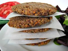 Quinoa & Adzuki Bean Veggie Burgers with omega-rich flaxseed meal! gluten-free, dairy-free, egg-free