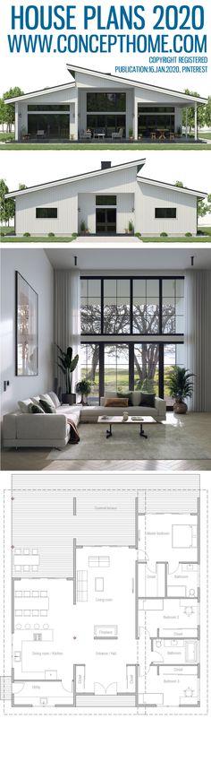 House Plan House Plan Home Plans, Floor Plans, House Designs 1200sq Ft House Plans, 30x40 House Plans, A Frame House Plans, Modern House Plans, Small House Plans, Exterior House Colors, Interior Exterior, Sims House, Farmhouse Plans