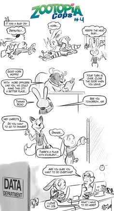 e621 beverage black_and_white bovine buffalo chief_bogo clothing coffee comic computer darkgargo_(artist) denial dialogue disney driving ears_down english_text female food handcuffs judy_hopps love male mammal monochrome nick_wilde open_mouth reptile scalie shackles sign simple_background smile speech_bubble text turtle white_background zootopia