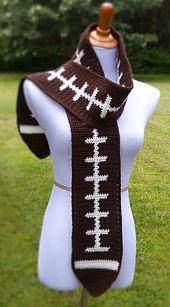 Ravelry: Football Scarf pattern by Doni Speigle