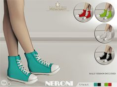 Madlen Neroni Sneakers New sneakers for your sim! Perfect for everyday walk. HQ patent leather texture come in 5 colors. Mesh is completely new, made by myself and low poly. Joints are perfectly assigned. All LODs are replaced with new ones.Male version is included.You cannot change the mesh, but feel free to recolor it as long as you add original link in the description.If you can't see this creation in CAS, please update your game.Hope you'll like it!Enjoy!DOWNLOAD