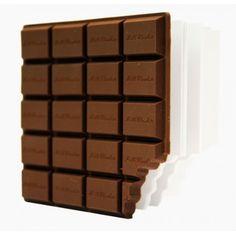 Un carnet de notes au design d'une tablette de chocolat
