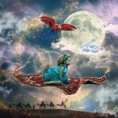 Magic Carpet Digital Background, 2 backdrops Aladdin fairy tale, with and without parrot, and parrot as overlay png Funcionalidades Do Photoshop, Photoshop Tutorial, Magical Images, Digital Backgrounds, Christmas Photography, Photography Backdrops, Photography Ideas, Digital Backdrops, Magic Carpet