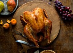 Simple roast turkey. Photo: Andrew Scrivani for The New York Times