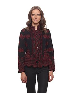 100 Alpaca Empress Cardigan  Red ** You can get more details by clicking on the image.