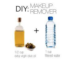 DIY Makeup Remover - bonus: olive oil good for skin and eyelashes