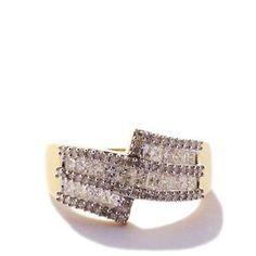 White Diamond Ring in 9K Gold 1ct