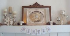 STARSHINE CHIC decorating on a dime or even ... | Mantel Decor Ideas