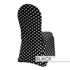 Other colors available at Urquid Linen. Chair Covers, White Weddings, Spandex, Fabric, Decorating, Ideas, Black, Brides, Chair Sashes