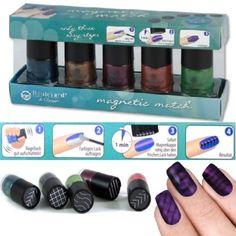 5er Set Magnetic Effekt Nagellack - Nail Polish Magic Trendfarben HIT! Magnetic Nail Polish, Fall Nail Colors, Trends, Nail Tech, Beauty Nails, Nail Art, Cosplay Costumes, Tutorials, Tips