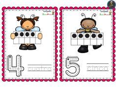 Bonitas tarjetas de números del 0 al 10 – Imagenes Educativas Shapes, Comics, Spanish, Preschool Math Activities, Kids, Comic Books, Comic Book, Spain