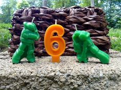 Ninja Big Birthday Candles 6.00 by BabyBearCrayons on Etsy