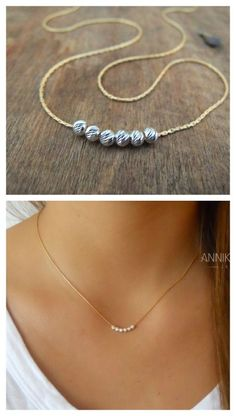 A beautiful, simple, everyday necklace. In addition to being beautiful and delicate on its own, This necklace is perfect for layering with more of your necklace collection.