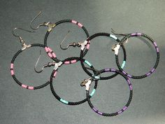 SPECIAL 3 Pair of Native Beaded Hoops for One Price by LakotaCharm, $10.00