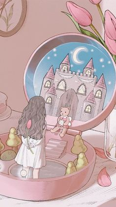 Find images and videos about wallpaper on We Heart It - the app to get lost in what you love. Cute Pastel Wallpaper, Soft Wallpaper, Anime Scenery Wallpaper, Aesthetic Pastel Wallpaper, Cute Anime Wallpaper, Tumblr Wallpaper, Wallpaper Iphone Cute, Cute Cartoon Wallpapers, Disney Wallpaper