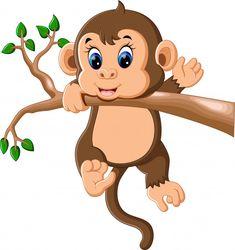 Baby monkey Premium Vector | Premium Vector #Freepik #vector #baby