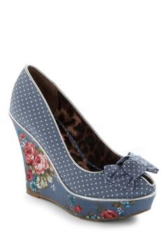 Betsey Johnson For the Winsome Wedge - I would fall right out of these, but boy are they cute!