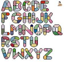 Darling Make Alphabet Friendship Bracelets Ideas. Wonderful Make Alphabet Friendship Bracelets Ideas. Cross Stitch Alphabet Patterns, Embroidery Alphabet, Cross Stitch Letters, Letter Patterns, Learn Embroidery, Hand Embroidery Patterns, Cross Stitch Embroidery, Stitch Patterns, Hand Lettering Alphabet