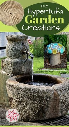 Hypertufa is a lighter than concrete cement mix that can be cast for a smooth appearance or even formed in your hands into any shape like wet sand. There is a trick to learn about the curing process, read on to learn more. Diy Concrete Planters, Cement Garden, Concrete Crafts, Concrete Projects, Concrete Cement, Concrete Garden Ornaments, Cement Flower Pots, Stone Planters, Cement Planters
