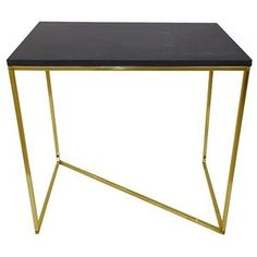 Stepney End Table Brass and Black