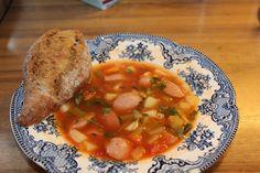 Monicas Matverden: Snill grønnsakssuppe med tomat og pasta