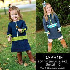 DAPHNE ZipUp Jumper PDF Downloadable Pattern by by modkid on Etsy