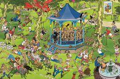 The Bandstand (Het Muziekpaviljoen)/Concert in the Park - Jan van Haasteren puzzels Wallpaper Downloads, Pattern Wallpaper, Iphone Wallpaper, Desktop Wallpapers, Best Jigsaw, Picture Writing Prompts, Puzzle Art, France, Space Crafts